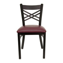Flash Furniture - Flash Furniture Hercules Series Black Back Metal Chair in Burgundy - Flash Furniture - Dining Chairs - XU6FOBXBKBURVGG - Provide your customers with the ultimate dining experience by offering great food, service and attractive furnishings. This heavy duty commercial metal chair is ideal for restaurants, hotels, bars, lounges, and in the home. Whether you are setting up a new facility or in need of a upgrade this attractive chair will complement any environment. This metal chair is lightweight and will make it easy to move around. For added comfort this chair is comfortably padded in vinyl upholstery. This easy to clean chair will complement any environment to fill the void in your decor. [XU-6FOBXBK-BURV-GG]