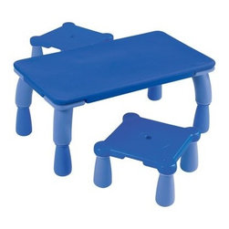 Wesco Chameleon Table and 2 Stools - About WESCOFor more than 30 years, WESCO has been proud to be a leader in children's developmental products. WESCO specializes in products from preschool products, sport and motor skills, soft furniture, sand and water tables, to playground equipment; educational toys, soft play equipment, and child play mats. WESCO products are fire retardant, easy to clean, extra-safe, and provide the upmost in fun and learning equipment combined in one.