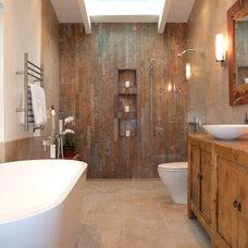 Transitional Bathroom by Premier Kitchen & Bath