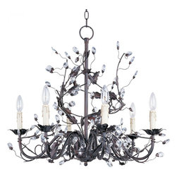 Joshua Marshal - Six Light Oil Rubbed Bronze Up Chandelier - Six Light Oil Rubbed Bronze Up Chandelier