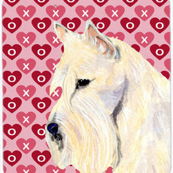 Caroline's Treasures - Scottish Terrier Hearts Love And Valentine's Day  Mouse Pad, Hot Pad Or Trivet - Mouse Pad, hot pad or trivet ... Long lasting polyester surface provides optimal tracking. Sure-grip rubber back. Permanently dyed designs. 7 3/4 inches x 9 1/4 inches. Heat Resistant up to 400 degrees. Let something from the oven rest on the stove before placing it on the mouse pad as it will scorch the fabric on the top of the pad. Use as a large coaster for multiple drinks or a pitcher.