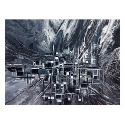 Kozyuk Gallery - Abstract City, Painting - Title: Abstract City, 2014