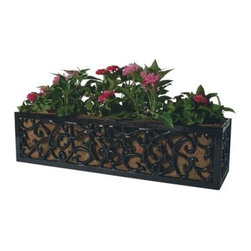 Charleston Planter With Liner - I love the scrolled detail in this outdoor planter. The cast aluminum has a powder-coated finish, will resist rust and stand up to the elements season after season.