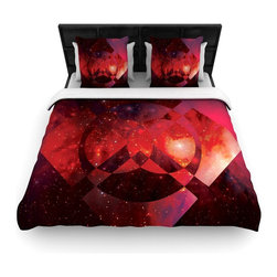 "Kess InHouse - Matt Eklund ""Galactic Radiance Crimson"" Red Pink Fleece Duvet Cover (Queen, 88"" - You can curate your bedroom and turn your down comforter, UP! You're about to dream and WAKE in color with this uber stylish focal point of your bedroom with this duvet cover! Crafted at the click of your mouse, this duvet cover is not only personal and inspiring but super soft. Created out of microfiber material that is delectable, our duvets are ultra comfortable and beyond soft. Get up on the right side of the bed, or the left, this duvet cover will look good from every angle."