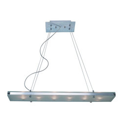Trend Lighting - Trend Lighting TP4336 Brushed Aluminum Linear ChandelierPlano Collection - Features: Trend Lighting began thirty years ago with the simple vision of providing the lighting industry with the finest made products available on the market.