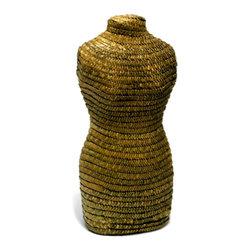 Unique Rattan Wrapped Dress Form - Unique Rattan Wrapped Dress Form