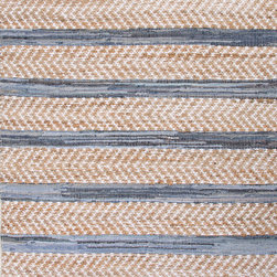 Jaipur Rugs - Texture Pattern Cotton/ Polyester Taupe/Gray Durable Area Rug ( 8x10 ) - Recycled denim and cotton are woven in a casual yet modern flatweave that adds texture and softness to any room.