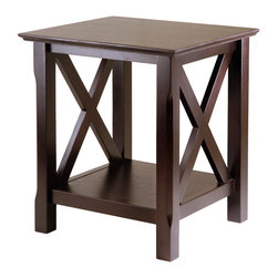 Winsome Wood - Winsome Wood Xola End Table in Cappuccino - End Table in Cappuccino belongs to Xola Collection by Winsome Wood Simple and basic yet elegant in this Xola End Table in warm Antique Walnut Finish. End Table (1)