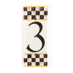 Courtly Check House Number - 3 | MacKenzie-Childs -