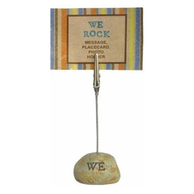 """WL - 4.25 Inch """"WE ROCK"""" Inscription on Stone Base Photograph Clip - This gorgeous 4.25 Inch """"WE ROCK"""" Inscription on Stone Base Photograph Clip has the finest details and highest quality you will find anywhere! 4.25 Inch """"WE ROCK"""" Inscription on Stone Base Photograph Clip is truly remarkable."""