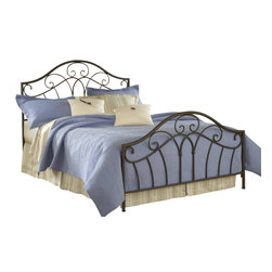 Hillsdale Furniture - Hillsdale Josephine King Metal Bed in Metallic Brown - Charming scrollwork and a beuatiful, arched silhouette combine in Hillsdale Furniture's Josephine Bed. A metallic brown finish and graceful lines blend this bed easily into your traditional or cottage d??cor.