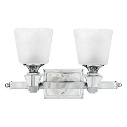 Quoizel - Quoizel Polished Chrome Bathroom Fixtures - SKU: DX8602C - A swank, soft modern look paying homage to the days when Frank, Dean and Sammy were serving martinis and cosmopolitans in their sleek Palm Springs homes.