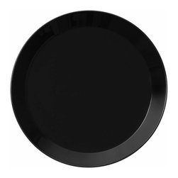 Iittala - Teeme Dinner Plate, Black - Classic ceramic dinner plates never go out of style. This modern take on the plate would be a lovely addition to any home. A set of these would be the perfect housewarming gift for a young couple just building a life together.