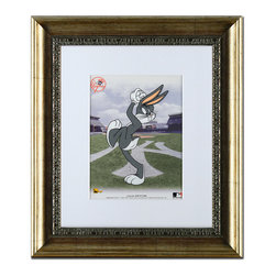 Qart.com - Bugs Bunny Pitching with the Yankees Limited-Edition Framed Cel - Bring a piece of television history to the walls with this full color wall art! Officially licensed, this limited-edition piece provides a unique flourish to décor while eliciting compliments from Yankees and Bugs Bunny fans.   Includes print, frame and certificate of authenticity 13.5'' W x 15.5'' H Paper Ready to hang Made in the USA