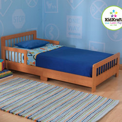 "KidKraft - Slatted Toddler Bed - Features: -Material: Wood.-Fits most crib mattresses.-Low to the ground.-Bed rails keep kids safe and secure.-Smart, sturdy construction.-Distressed: No.-Powder Coated Finish: No.-Gloss Finish: No.-Solid Wood Construction: No.-Hardware Material: Metal.-Scratch Resistant: No.-Mattress Included: No.-Box Spring Required: No.-Slats Required: No.-Slat System Included: Yes.-Center Support Legs: Yes.-Number of Center Support Legs: 2.-Bed Rails: No.-Recommended Age Range: 15 Months and up.-Also Suitable for Adults: No.-Upholstered: No.-Wood Moldings: Yes.-Canopy Frame: No.-Canopy Included: No.-Lighted Headboard: No.-Light Type: No.-Adjustable Headboard Height: No.-Adjustable Shelves: No.-Underbed Storage: No.-Trundle Bed Included: No.-Hidden Storage: No.-Jewelry Compartment: No.-Attached Nightstand: No.-Media Outlet Hole: No.-Built in Outlets: No.-Weight Capacity: 50 lbs.-Finished Back: Yes.-Swatch Available: No.-Commercial Use: No.-Recycled Content: 0%.-Eco-Friendly: No.-Product Care: Wipe with a damp cloth.Specifications: -FSC Certified: No.-EPP Compliant: No.-CPSIA or CPSC Compliant: Yes.-CARB Compliant: Yes.-JPMA Certified: No.-ASTM Certified: Yes.-ISTA 3A Certified: No.-PEFC Certified: No.-General Conformity Certificate: Yes.-Green Guard Certified : No.Dimensions: -Overall Height - Top to Bottom: 18.15"".-Overall Width - Side to Side: 28.27"".-Overall Depth - Front to Back: 51.57"".-Overall Product Weight: 42.24 lbs.Assembly: -Assembly Required: Yes.-Tools Needed: Allen wrench and phillips screwdriver.-Additional Parts Required: No.Warranty: -Product Warranty: 90 Days free replacment parts."