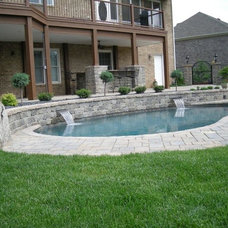 Swimming Pools And Spas by Grotto Hardscapes by Chandler Concrete Co., Inc.