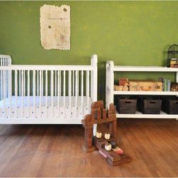 Franklin & Ben - Franklin & Ben Liberty 3-in-1 Convertible Crib - MDB249 - Shop for Cribs from Hayneedle.com! The only thing in the nursery that will be more charming than the Franklin & Ben Liberty 3-in-1 Convertible Crib is the baby who will be using it. Constructed of solid American poplar this crib includes a rail to convert it to a toddler bed and can also be used as a daybed. You should transition to a toddler bed once your baby begins to climb or reaches 35 inches in height. The clean white finish is non-toxic and is hand-applied through a multi-step process. This crib grows with your child thanks to a 4-position adjustable mattress support. Hardware is hidden for safety and beauty and this crib is lead and phthalate safe JPMA certified and meets ASTM crib safety standards and US safety requirements. Add the 2-shelf matching changing table to complete the nursery.About the optional changing table2-shelf changing table crafted of American poplar hardwoodHand finished in non-toxic multi-step painting processExtra wide design offers more storageNo cam locksLead and phthalate freeAnti-tip kit includedDimensions: 47.63W x 20D x 30H in.About Franklin & BenBorn in 2011 Franklin & Ben mixes elements of modern design aesthetics with the classic high-quality construction of traditional craftsmanship. Inspired by both the historic atmosphere and legacy of New England and later the eclectic contemporary appeal of Los Angeles the brand found its middle ground. Rooted in the combination of traditional silhouettes paired with modern finishes each of their collections and pieces fit seamlessly into any nursery environment.At Franklin & Ben your family's safety is of the utmost importance as is sustainable production and exceeding industry-related safety standards - set both nationally and internationally. When purchasing a piece from Franklin & Ben you can rest assured that you are receiving a high-quality product designed with your family's best interest in mind.