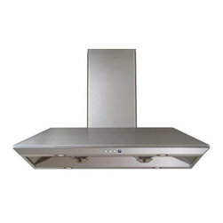 "Windster - R-18L42SS 42"" Island Range Hood with Dual High Performance Motors  Hi-tech Elect - Windster R-18LSS Island Range Hood with Dual High Performance Motors Hi-tech Electronic 3 Speed with LED Indicator and Top 6 Round Outlets Brushed Stainless Steel"