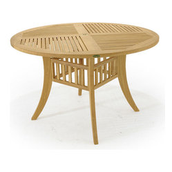 Westminster Teak Furniture - Grand Hyatt 4ft Teak Table - This 4 ft Diameter Grand Hyatt Teak Table features our Block Leg Design (BLS) for style and elegance. Westminster Teak outdoor tables have a life expectancy of 75 yrs, untreated and weathered.