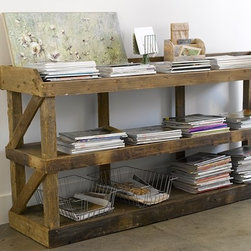 Warrenton Cabinet - I love the rustic feel to this console organizer. Place baskets, magazines, books and anything else that will help keep you organized each and every day.
