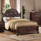 "Acme Furniture - Daruka Queen Bed in Cherry - Daruka Queen Bed in Cherry; Finish: Cherry; Dimensions: 64""H"