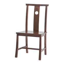 Indigo Dining Chair, Side, Dark Walnut