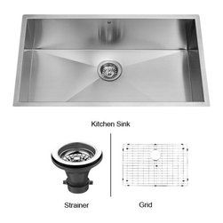 Vigo - VIGO Undermount Stainless Steel Kitchen Sink - Fully undercoated and padded with unique multi layer sound eliminating technology, which also prevents condensation