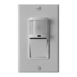 Aero Pure - Aero Pure Fan AP 100 MAT Wall Mounted Motion Activated Timer - Wide range detection field. Optional time delay. White housing. Minimum time 10 seconds; maximum time 30 minutes. Touch-tone AUTO OFF switch. Indicator lamp for ON/OFF for detection.