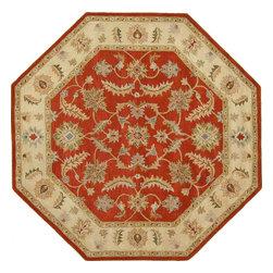eSaleRugs - 8' 1 x 8' 1 Classic Agra Octagon Rug  - SKU #33102728 - Tufted Classic Agra rug. Made of 100% Hand Spun Wool. Brand New.