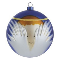 "Alessi - Alessi ""Angioletto"" Christmas Bauble - What's better than angels in the outfield? How about angels on your Christmas tree? This hand-blown ornament features a modern depiction of a brightly robed angel. It's knowing smile will make your days merry and bright."