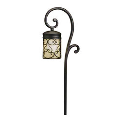 Kichler Lighting - Kichler Lighting 15426BKT Almeria Textured Black Landscape Path Light - Kichler Lighting 15426BKT Almeria Textured Black Landscape Path Light