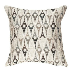 "Jules Pansu - Tout Eiffel Metalize Tapestry Pillow - Since 1878 Jules Pansu {Paris} has created & manufactured some of the most beautiful wall tapestries and fabrics available anywhere. And now their collection includes exquisite home accessories that use the time honored tradition of jacquard weaving and lead the way in innovative textile design. Today Jules Pansu celebrates 130 years of enriching homes with vivid colors, savoir-faire and innovation. Features: -Color: Gray Multi. -Material: Cotton twill. -Insert filled with 95% white goose feathers / 5% white goose down. -210 Thread count. -Dry clean only. Dimensions: -18"" W x 18"" D, 2 lbs."