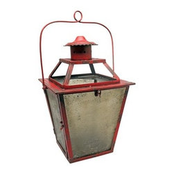 Vita V Home Large Red Coach Lantern - About Vita V HomeLocated in Elk Grove Village, Illinois, Vita V Home is dedicated to bringing the world's best home decor and accessories to you. Spanning contemporary, transitional, and traditional styles in everything from hand-blown glass to carved wood to cast resin, this incredible collection is ready to add to any space.