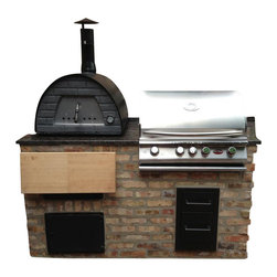 Mobile / Portable Wood Fired Outdoor Pizza Oven, only 120 lb! Great for Patio, B - Mobile Wood Fired Oven!