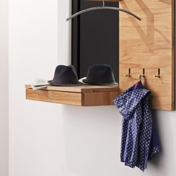 Wall Panel with Coat Rack -