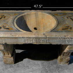 Antique Stone Sinks for Bathrooms and Powder Rooms (Mediterranean Style) - Images by 'Ancient Surfaces'