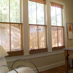 Top Down Bottom Up Natural Shades - Top Down, Bottom Up Roman Shades, pattern: Japon Beige