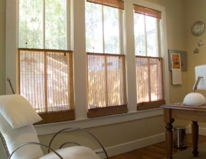 Contemporary Roman Shades by FUA Window Coverings