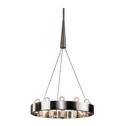 Robert Abbey Lighting - Robert Abbey Rico Espinet Candelaria Chandelier in Brushed Nickel - Now in Stock - Direct Wire Only.  Brushed Nickel Finish over Metal.