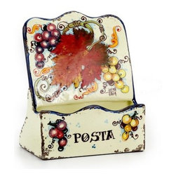 Artistica - Hand Made in Italy - Vite: Mail Pocket Holder - Table Top - Vite Autunno Collection: