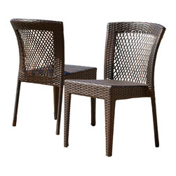 Great Deal Furniture - Dana Point Outdoor Wicker Chairs (Set of 2) - The Dana Point Outdoor Wicker Chair provides you a comfortable yet study chair that works great for any outdoor area. Provide extra seating for your friends and family on your patio or by the pool. These chairs arrives fully assembled and ready to use.