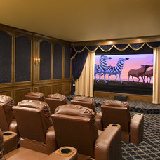 Traditional Home Theater by Astleford Interiors, Inc.