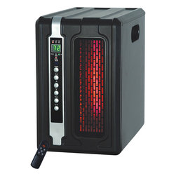 Lifesmart - Lifesmart Slimline Compact Infrared Heater with Remote - Stay toasty warm and comfortable all winter long with this innovative black Lifesmart infrared heater. This energy-efficient,remote-controlled heater heats up to 800 square feet of space and has a digital thermostat with automatic or timed shut-off.