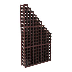 Wine Cellar Waterfall Display Kit in Pine with Walnut Stain - A beautiful cascading waterfall of wine bottle displays. Create a spectacle of 9 of your favorite vintages. Designed within our modular specifications and to Wine Racks America's superior product standards, you'll be satisfied. We guarantee it.