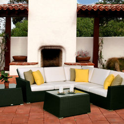 www.essentialsinside.com: maxime 7pc patio sectional - **6 months interest-free financing available through PayPal**