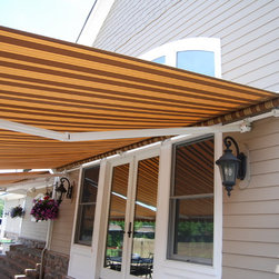 Striped Awnings by Breslow - Executed By Breslow Home Design