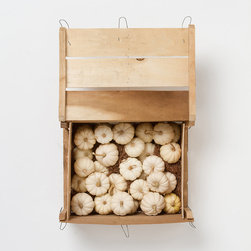 Mini White Pumpkin Crate - Thirty mini pumpkins? Yes! If I wasn't mid-renovation, I'd love to cluster these along our front porch, and then my husband Scott and I would use the crate inside for storage. We love a product that pulls double duty.