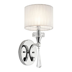 Kichler - Parker Point Chrome One-Light Wall Sconce - Parker Point Chrome One-Light Wall Sconce Kichler - 42634CH