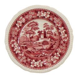 Spode - Spode Tower-Pink (Older Backstamp) Rim Soup Bowl - Spode Tower-Pink (Older Backstamp) Rim Soup Bowl