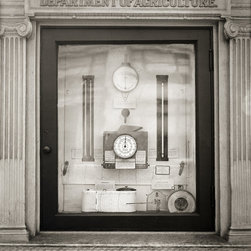 Before Today's Weather was on Your Phone Print - US Weather Bureau instruments in Washington DC. Created by Harris and Ewing on 8x10 film.